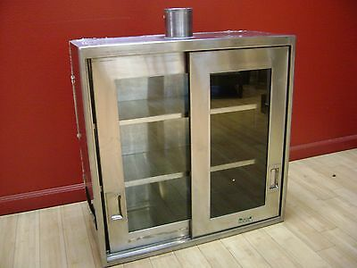 "Ventilated Wall Mounted Stainless Steel Cabinet 30""W 12""L 30""H"