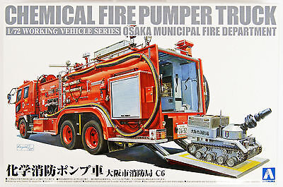 Aoshima 12062 Working Vehicle Series No.1 Chemical Fire Pumper Truck 1/72 scale