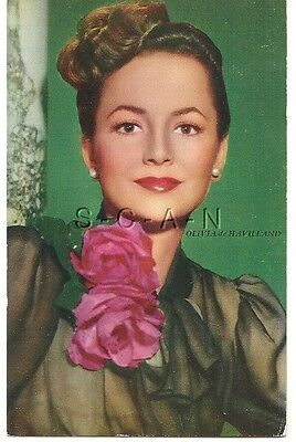 Original 1940s Semi Nude Pinup PC- Movie Card- Actress- Olivia de Havilland