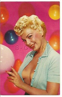 Original 1940s-60s Semi Nude Pinup Chrome PC- Blond- Balloons- Colorful Display