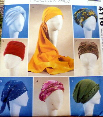LOVELY TURBANS HEADWRAP & HATS McCALLS Sewing Pattern UNCUT
