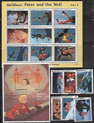 Maldives 1919-28 Disney's Peter and the Wolf Mint NH (DL1)