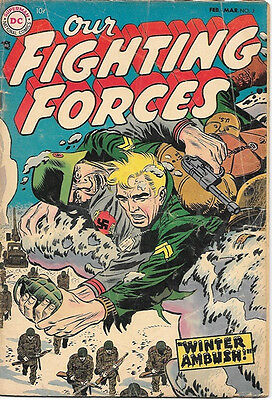 Our Fighting Forces Comic Book #3 Kubert Cover, DC Comics 1955 VERY GOOD