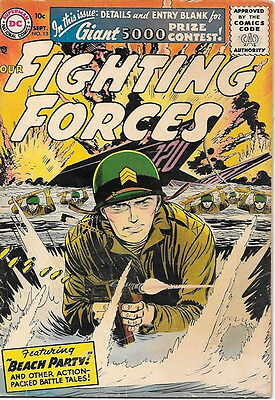 Our Fighting Forces Comic Book #13, DC Comics 1956 VERY GOOD+