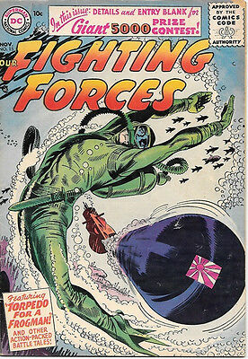 Our Fighting Forces Comic Book #15, DC Comics 1956 VERY GOOD/VERY GOOD+
