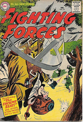Our Fighting Forces Comic Book #18, DC Comics 1957 VERY GOOD/VERY GOOD+