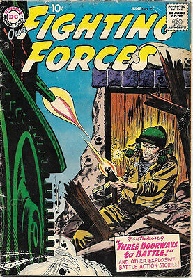Our Fighting Forces Comic Book #22, DC Comics 1957 VERY GOOD/VERY GOOD+