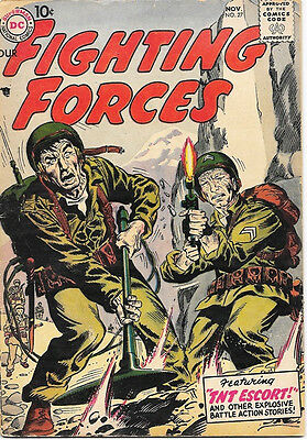 Our Fighting Forces Comic Book #27, DC Comics 1957 VERY GOOD