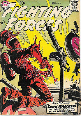 Our Fighting Forces Comic Book #29, DC Comics 1958 VERY GOOD/VERY GOOD+
