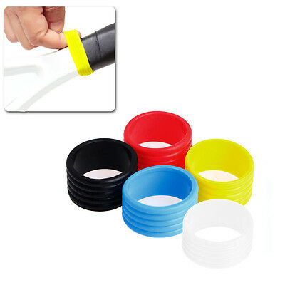 2Pcs Stretchy Tennis Racket Handle's Rubber Ring Tennis Racquet Band Overgrips