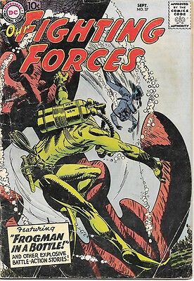 Our Fighting Forces Comic Book #37, DC Comics 1958 VERY GOOD