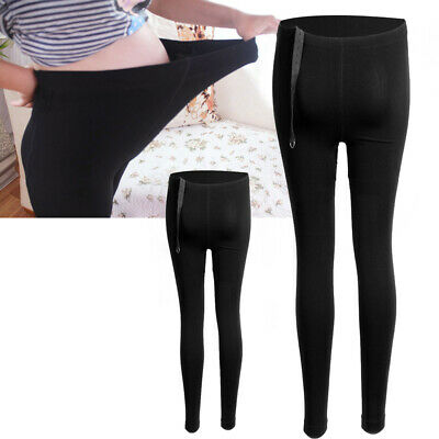 Pregnant Women Thick Comfortable Warmer Leggings Maternity Pants Black