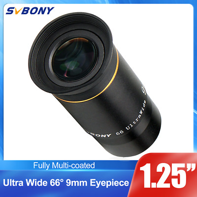 """1.25"""" Ultra Wide Angle Eyepiece Lens 9MM 66° Fully Multi-coated for Telescope US"""
