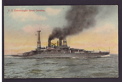 Cartolina Marina Militare U.S. Dreadnaught South Carolina K2021