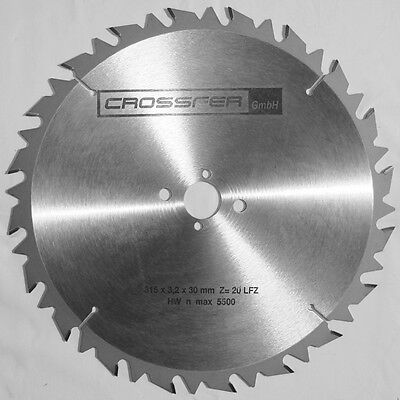 315x30mm Z20 Flachzahn HARTMETALL HM-KREISSÄGEBLATT PRÄZISION MADE IN GERMANY+