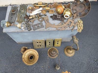 HUGE LOT OF VICTORIAN ANTIQUE HARDWARE FOR HOUSE-Parts Items ONLY-Free Ship,AsIs