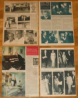 MICHELE MORGAN 1960s/70s spanish clippings photos vintage actress magazine