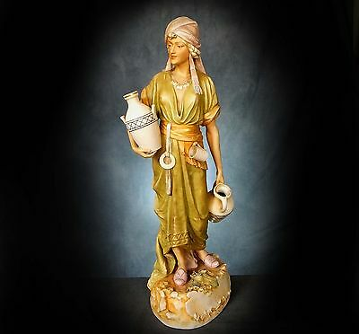 STUNNING, HUGE, ROYAL DUX FIGURINE of an ORIENTAL WATER CARRIER