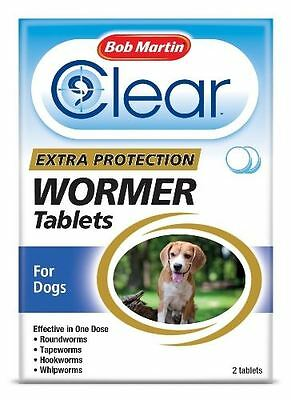 Bob Martin - Clear Extra Protection Wormer Tablets for Dogs x 2 Tablets
