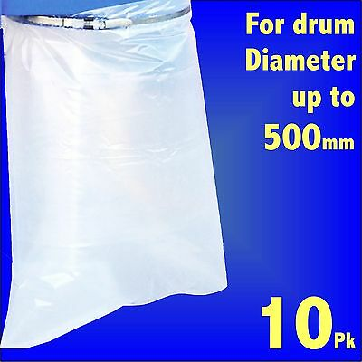 10 Polythene Collection Bag 32x43 fr Charnwood Fox SIP Dust Extractor 500mm Drum