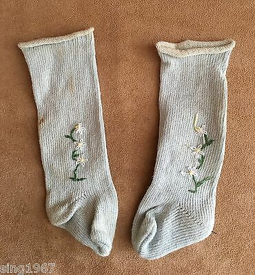 American Girl Felicity blue embroidered spring stockings doll clothing socks PM