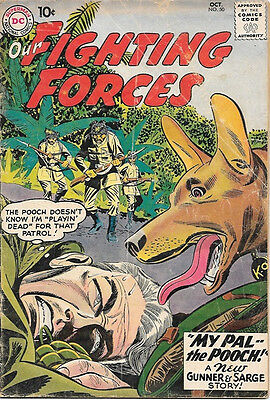 Our Fighting Forces Comic Book #50 Gunner and Sarge, DC Comics 1959 VERY GOOD