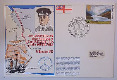 Great Britain Fdc 70Th Anniversary Ofthe Arrival Of Capt.scott At The South Pole