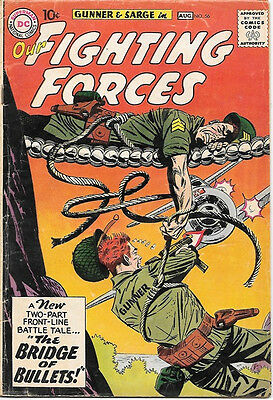 Our Fighting Forces Comic Book #56 Gunner and Sarge, DC Comics 1960 VERY GOOD+