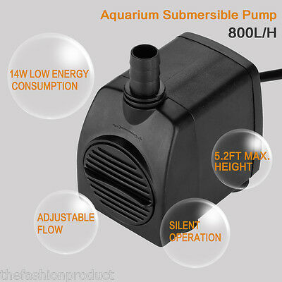 800L/H Submersible Water Pump for Fish Tank Pond Aquarium Hydroponic Fountain