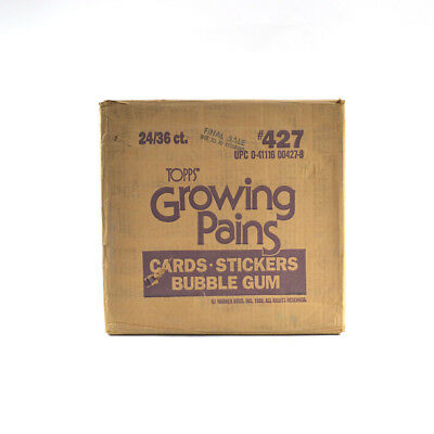 1988 Topps Growing Pains EMPTY Wax Box Case #427 24/36 ct.