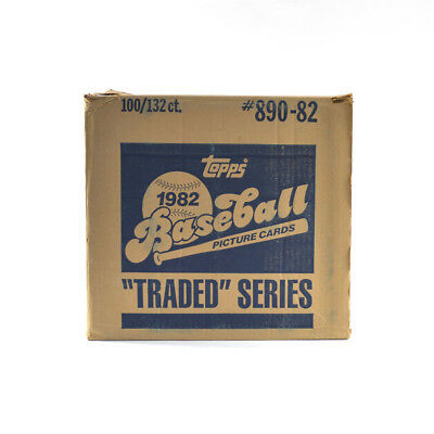 1982 Topps Baseball Traded Series EMPTY Factory Set Case #890-82 100/132 ct.