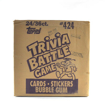 1984 Topps Trivia Battle Game EMPTY Wax Box Case #424 24/36 ct.