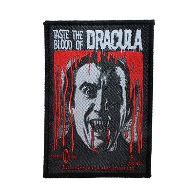 """""""Taste the Blood of Dracula"""" Vampire Horror Hammer Films Sew On Applique Patch"""