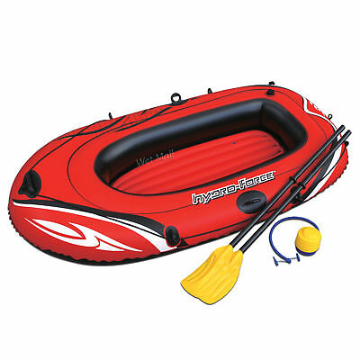 HYDRO-FORCE Inflatable Boat Two Person Explorer Raft Set with Paddles and Pump