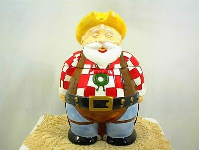 Cookie Jar Musical Christmas Magic Plays Jingle Bells Santa Cowboy Original Box