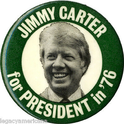 Classic 1976 Campaign JIMMY CARTER for PRESIDENT in '76 Picture Button (4822)