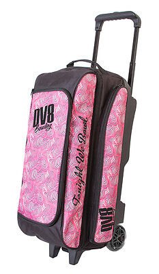 DV8 Freestyle Pink Swirl 3 Ball Roller Bowling Bag