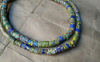 Venetian Antique Millefoire Africa Old Glass Beads