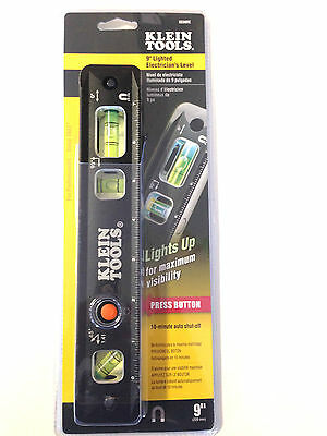 NEW KLEIN TOOLS 9330RE 9'' Lighted Electrician's Level