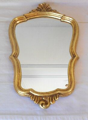 Vintage FRENCH MIRROR wood gilded ornate Frame LOUIS XV Style
