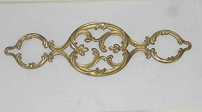 Antique French solid BRONZE  Pediment Fronton