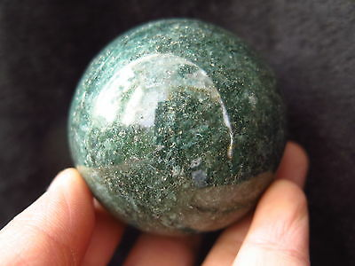 TOP!!! 395g Natural Green Amazonite Polished Crystal sphere ball Healing @a31