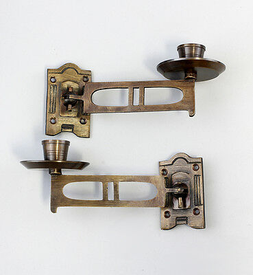 Pair Piano candlestick Burnished brass NEW 9977022