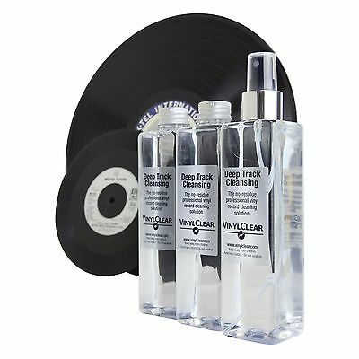 Vinyl Clear Vinyl Record Cleaner LP Antistatic Cleaning Solution 3 x 250ml