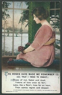 Song Card The Roses Have Made Me Remember (3) Vintage Bamforth Printed Postcard