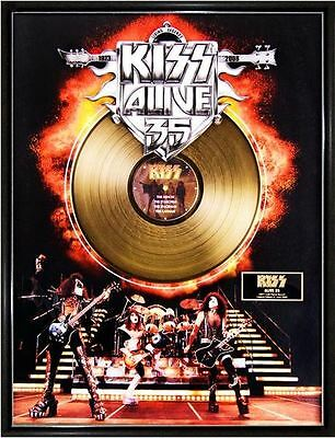 KISS Alive 35 Limited Ed. Framed 18X24 24KT Gold LP Collection/2500