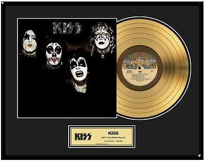 KISS 'KISS' Limited Ed. Framed 18X24 24KT Gold LP Collection/2500