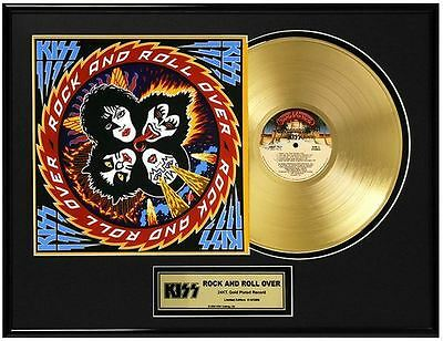 KISS Rock and Roll Over Limited Ed. Framed 18X24 24KT Gold LP Collection/2500