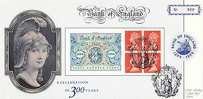 (93753) CLEARANCE GB Bradbury FDC Bank of England Booklet Pane London July 1994