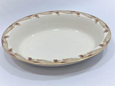 Lenox fine China-Maroon Essex Smooth- Vegetable Serving Bowl- 9 5/8 x 7 1/4 inch